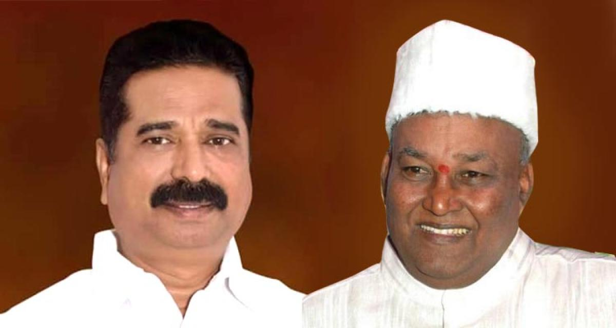 Katta Naidu (right) was not given a party ticket for the 2013 polls.