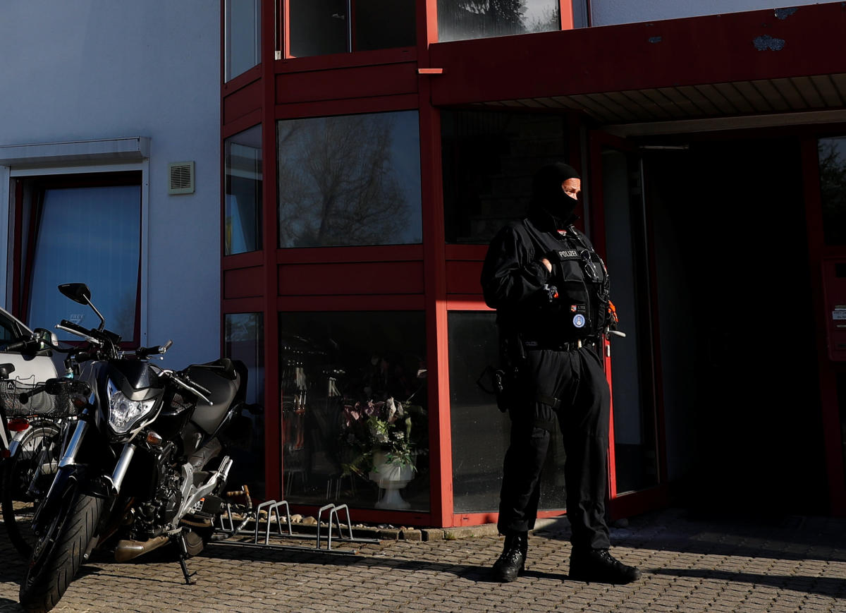 Some 1,500 officers swooped on 63 brothels and flats in 12 of Germany's 16 states.