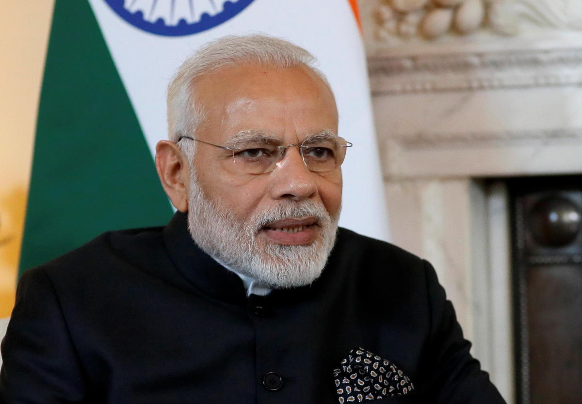 Modi is on a four-day visit to the UK to attend the Commonwealth Heads of Government Meeting (CHOGM).