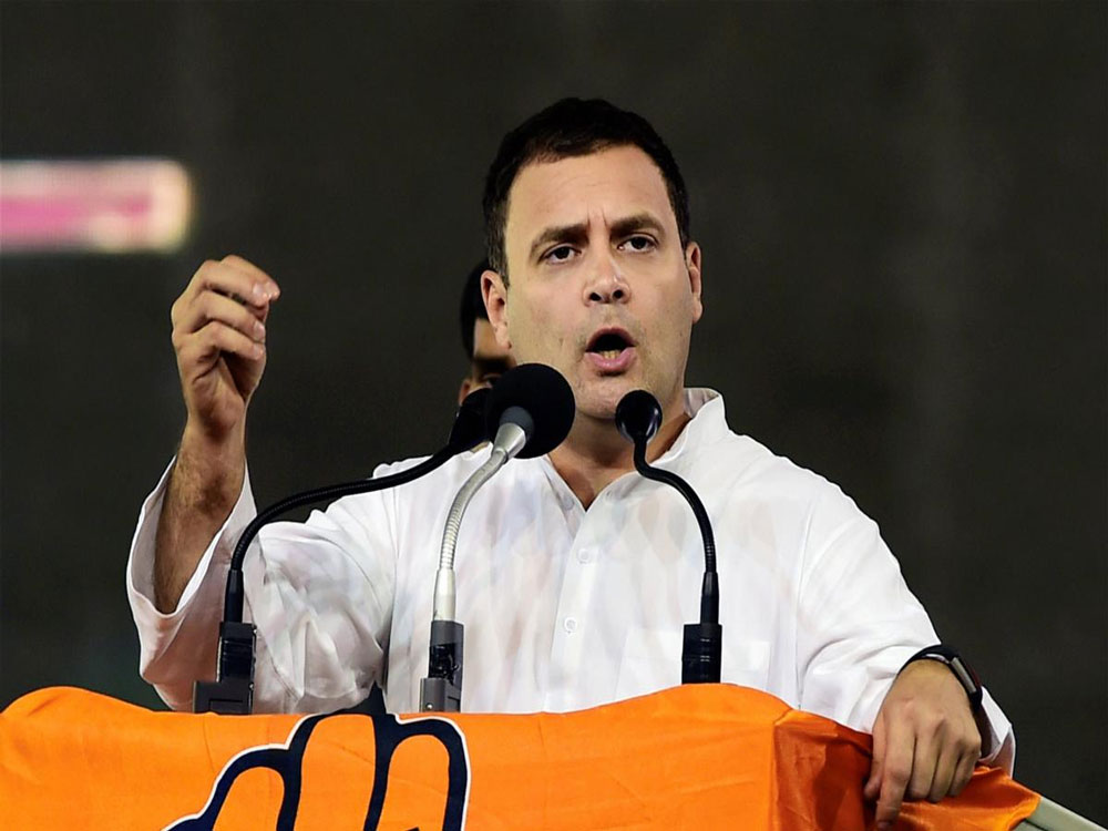 Rahul Gandhi promised loan waiver and proper Minimum Support Price (MSP) for crops if the Congress comes to power. PTI file photo.