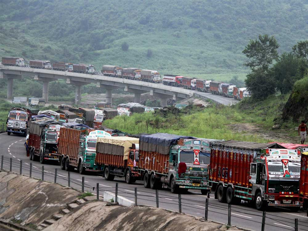 The Union Ministry of Transport said that commercial licenses are required for trucks and other heavy transport vehicles to comply with an SC directive on the matter. PTI file photo for representation.