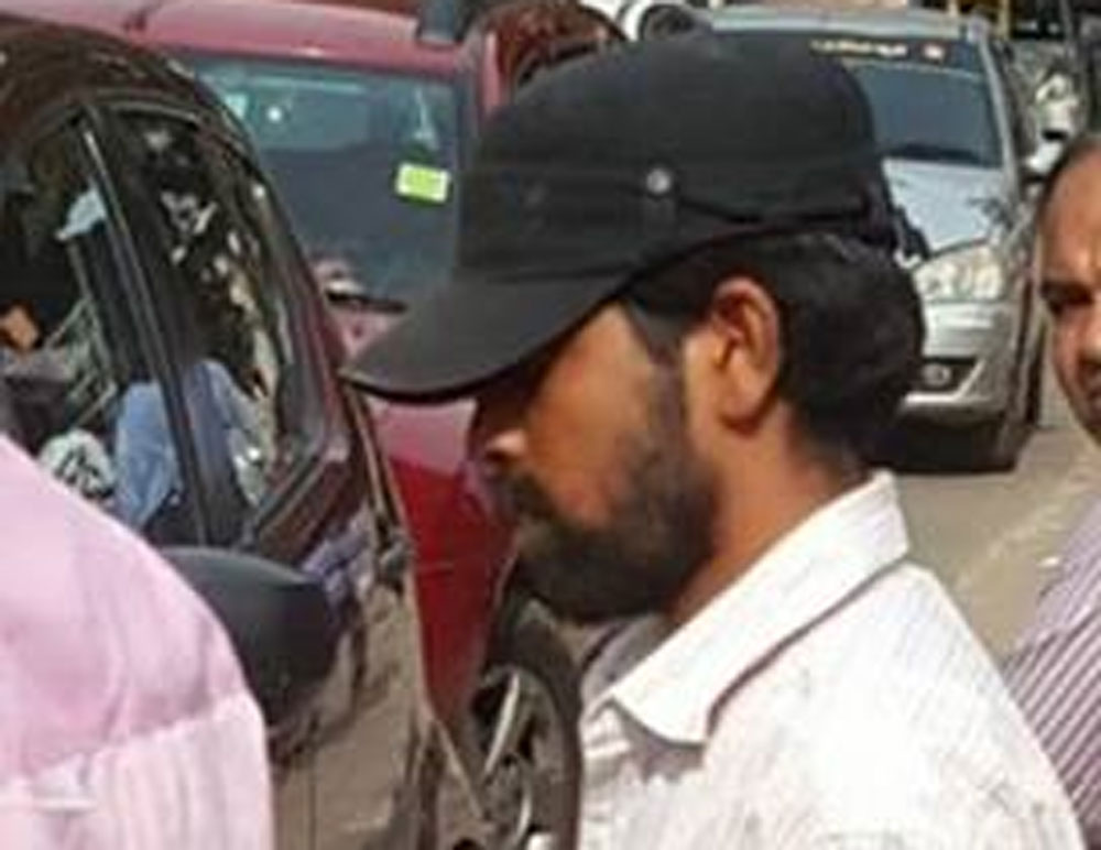 One of the drunk molesters captured on camera by Nandkumar. Facebook photo.
