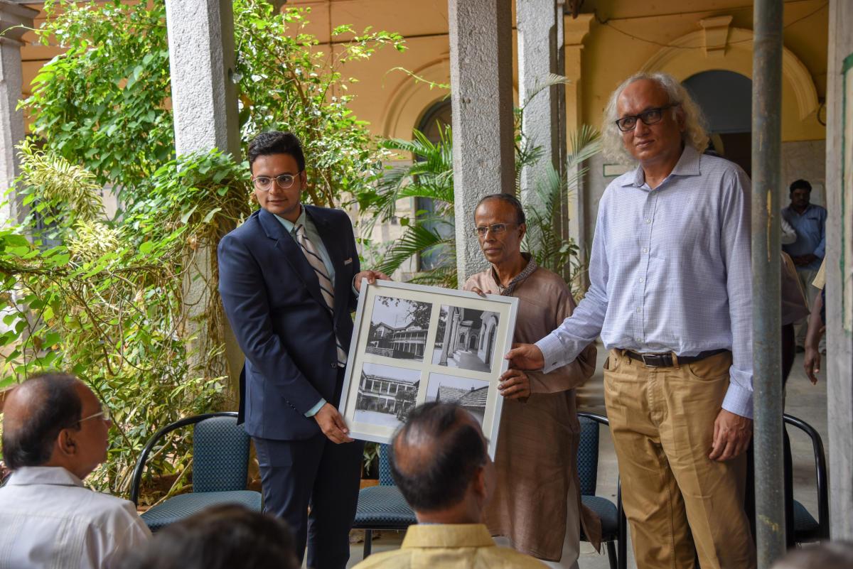 Yaduveer Krishnadatta Chamaraja Wadiyar, scion of Mysuru Royal family, laid the foundation stone for the work on Thursday and planted a sapling.