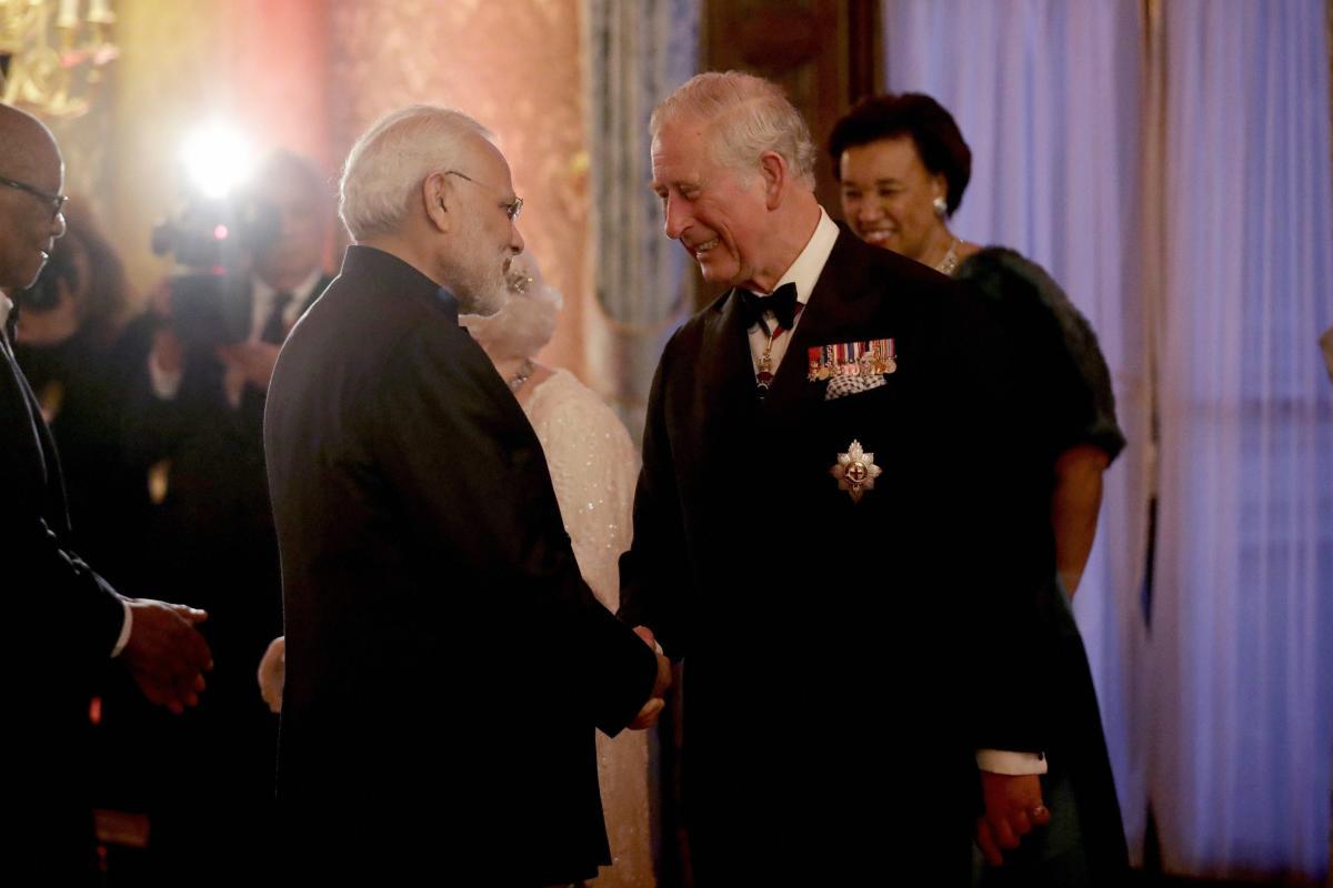 Prince Charles meeting Prime Minister Narendra Modi. AP/PTI photo.