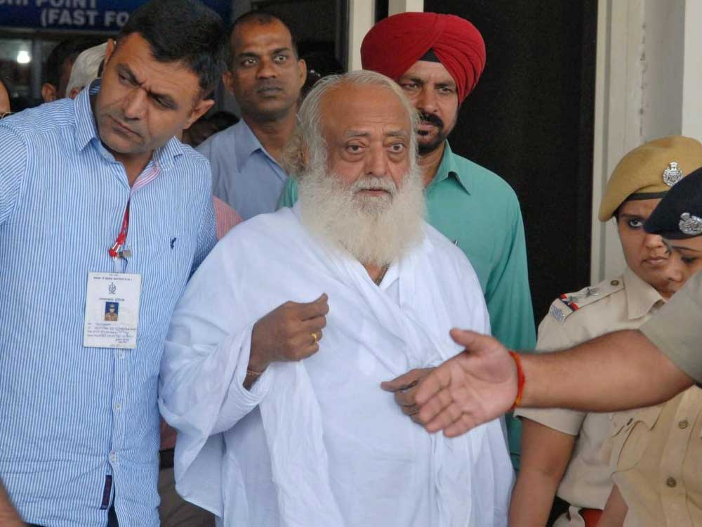 Asaram is accused of raping a minor girl at his ashram in Manai village near Jodhpur. (Reuters file photo)