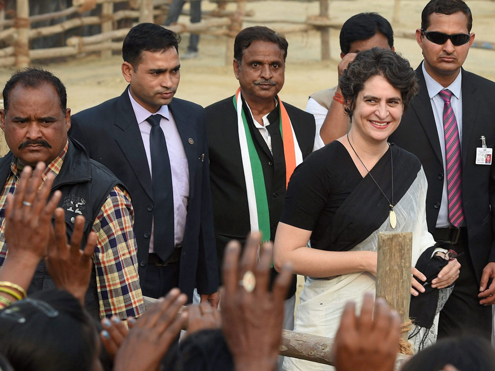 In picture: Priyanka Gandhi Vadra. PTI file photo.