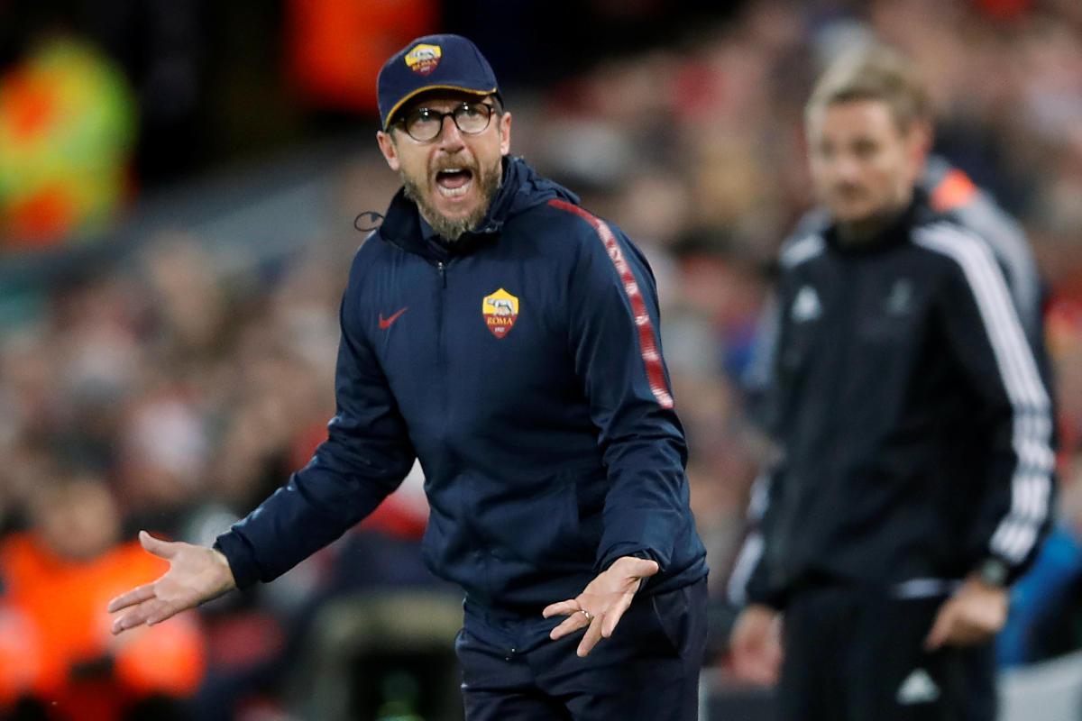 Roma's head coach Eusebio Di Francesco felt his side lost the plot after an excellent start. AFP