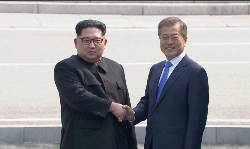 Analysts say South Korean President Moon Jae-in and North Korean leader Kim Jong Un will have to nurture the reduced tensions into concrete moves. (Reuters photo)