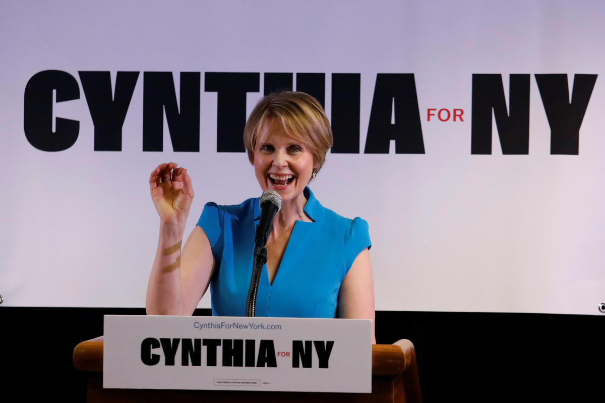 Actress Cynthia Nixon announces that she is running for Governor of New York at a campaign stop in Brooklyn, New York. Reuters Photo