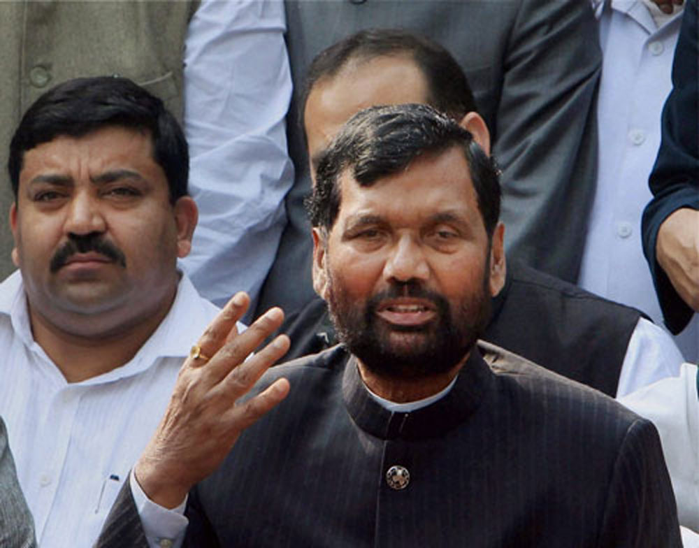 Union minister and BJP ally Ram Vilas Paswan said the Modi government wants three issues -- reservation for SCs and STs in promotions in government jobs, quota for them in universities, besides the law on atrocities against them -- to be settled as per the demands of the Dalit groups, which have argued that a string of court orders on these matters have hit their interests adversely. PTI file photo