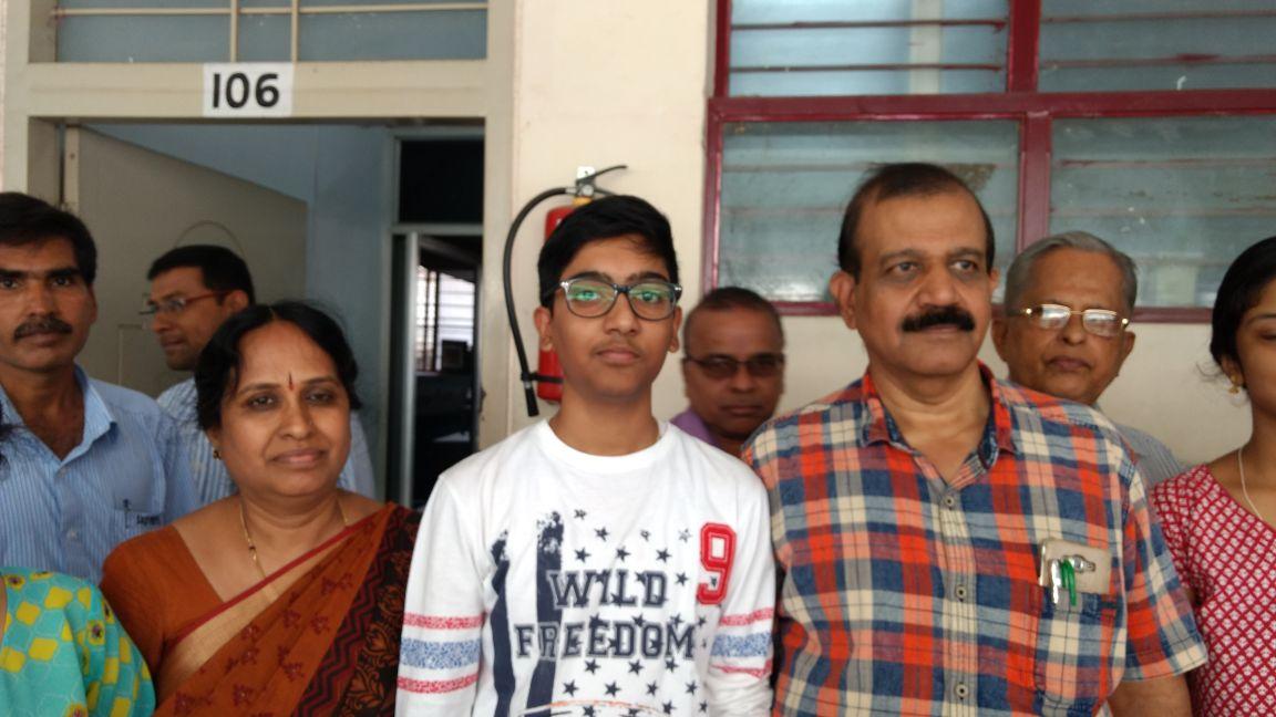 Yashas of Sadvidya High School, Mysuru, is the state topper. DH Photo
