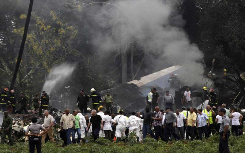 President Miguel Diaz-Canel said an investigation was underway into Friday's crash of the nearly 40-year-old Boeing 737, leased to the national carrier Cubana de Aviacion by a Mexican company. AP/PTI photo