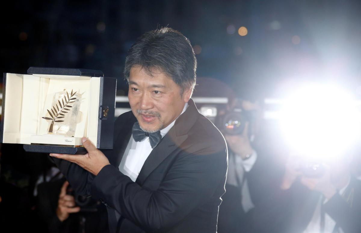 "Director Hirokazu Kore-eda, Palme d'Or award winner for his film ""Shoplifters"" (Manbiki kazoku), poses."