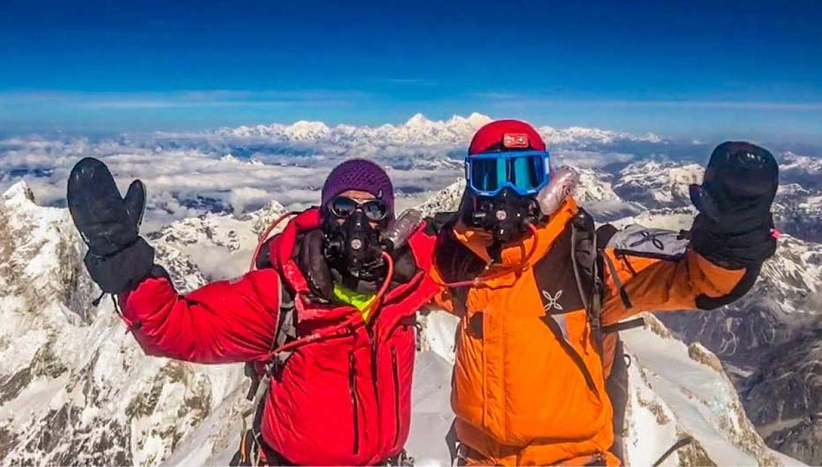 Indian mountaineer Arjun Vajpai this week became the youngest person in the world to scale six peaks over 8,000 metres when he summited the treacherous Kangchenjunga, the third highest mountain in the world. Picture courtesy Twitter