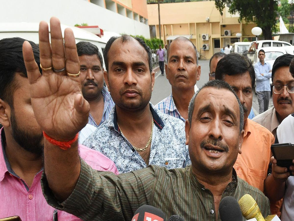 The charge comes shortly after BJP's Kuldeep Singh Senger was charged for rape among other crimes.