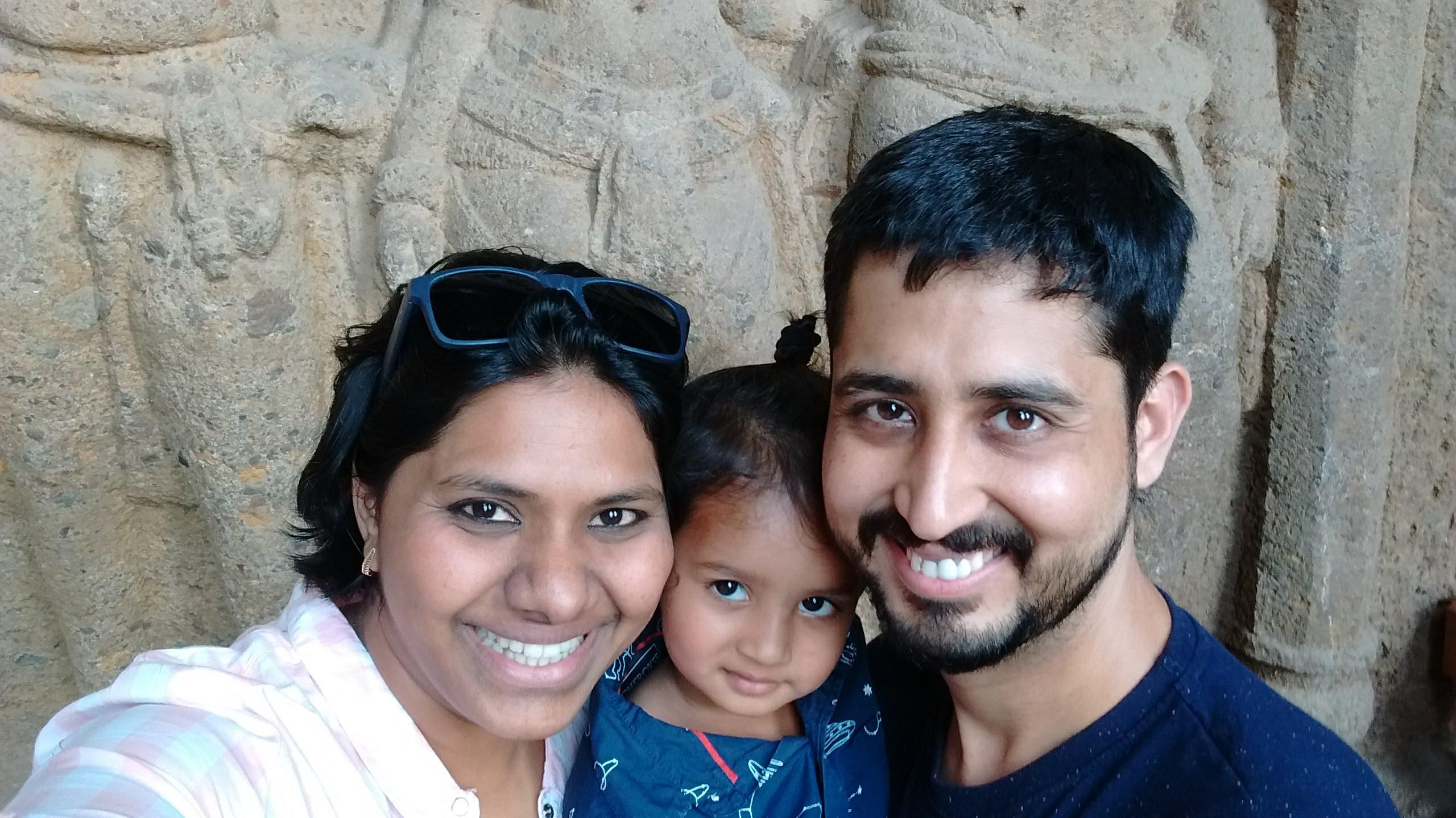 Meghana Naidu with family.