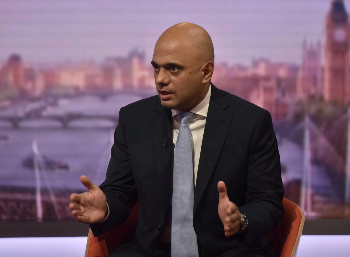 Britain's Home Secretary Sajid Javid. Reuters photo