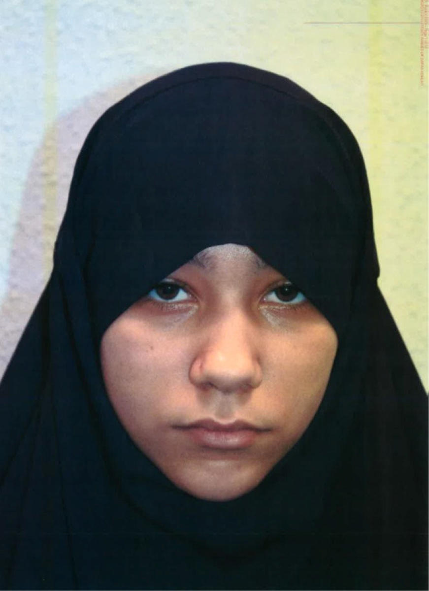 Safaa Boular, aged 18, who has been found guilty of plotting to carry out terrorist acts, can be seen in this undated Metropolitan Police handout photograph in London, Reuters photo