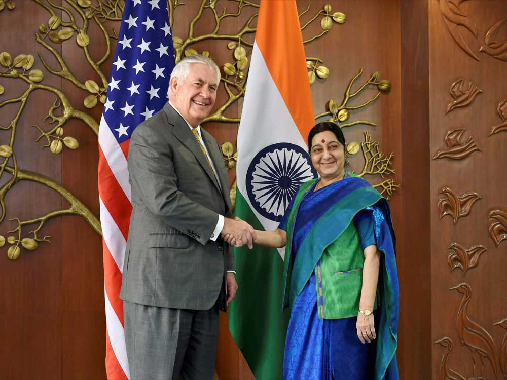 Swaraj and Sitharaman will take part in the first meeting of the '2+2 Dialogue' with US Secretary of State Michael R Pompeo and Secretary of Defence James N Mattis on July 6, it said. PTI file photo.