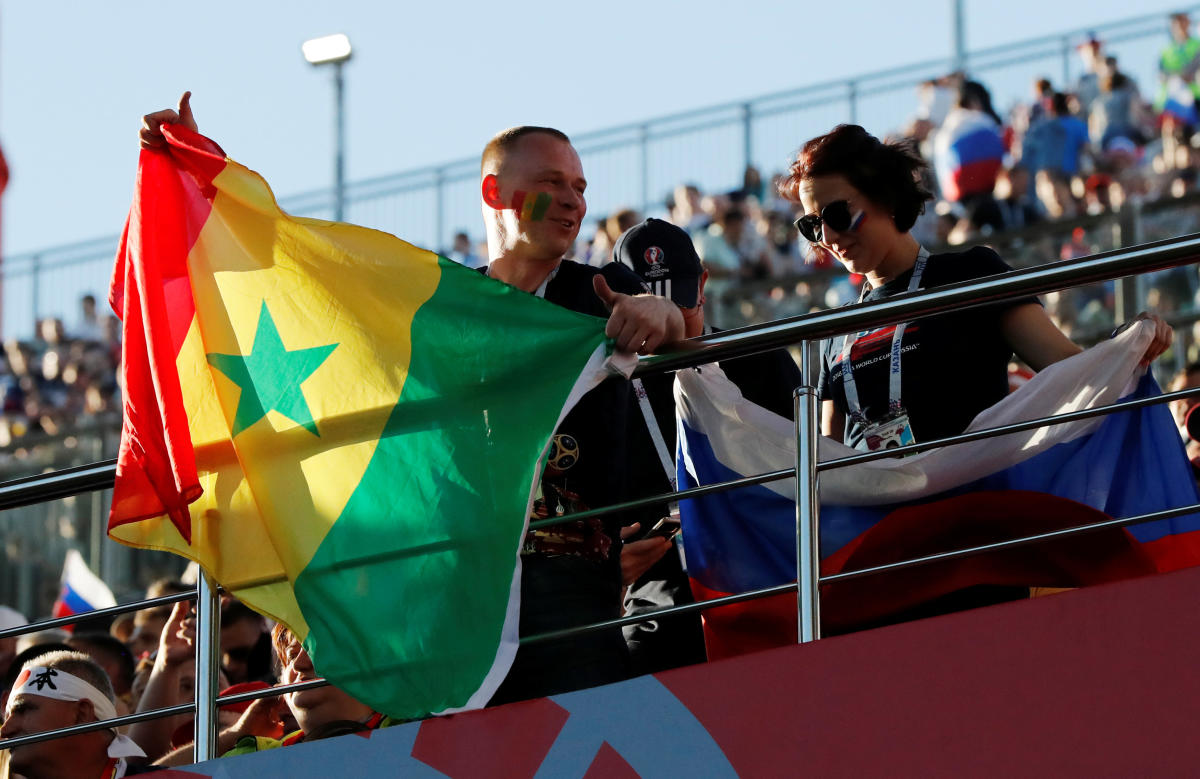Soccer Football - World Cup - Group H - Japan vs Senegal - Ekaterinburg Arena, Yekaterinburg, Russia - June 24, 2018 Fans before the match REUTERS