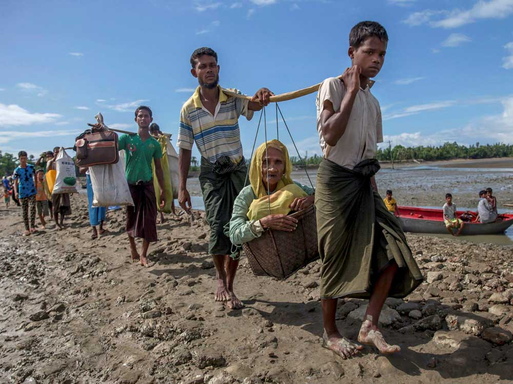 """More than 700,000 Rohingya Muslims were forced to flee Rakhine state after a military crackdown that the United Nations has said amounts to """"ethnic cleansing"""". (AP/PTI file photo)"""