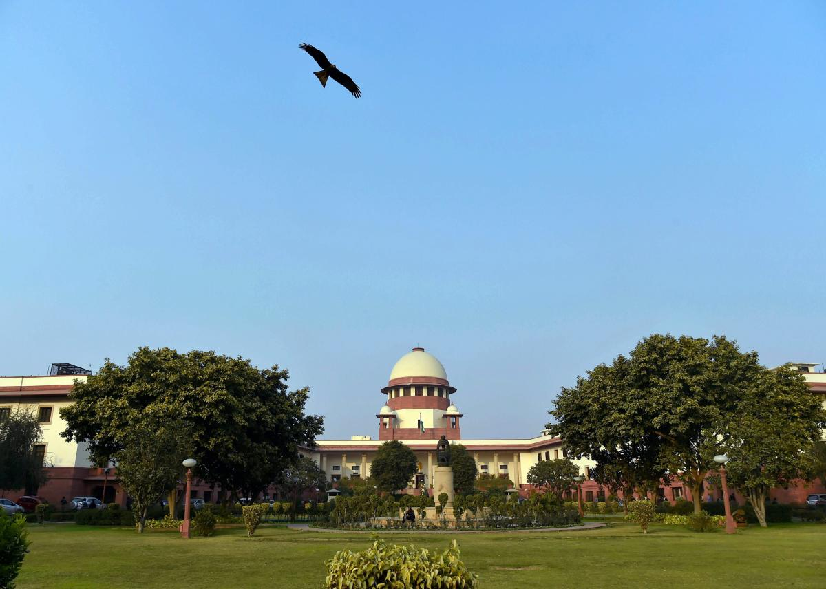 A view of Supreme Court of India in New Delhi on Friday. PTI Photo by Atul Yadav(PTI1_12_2018_000153A)