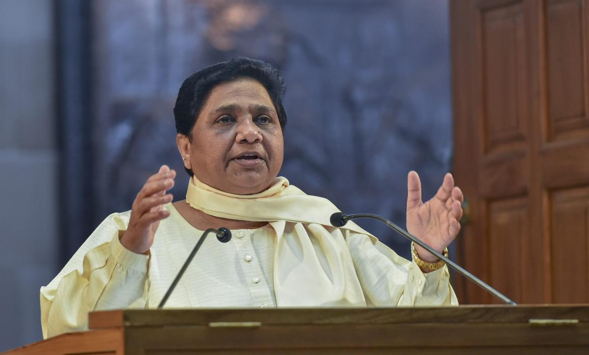 BSP president and former UP chief minister Mayawati. PTI file photo