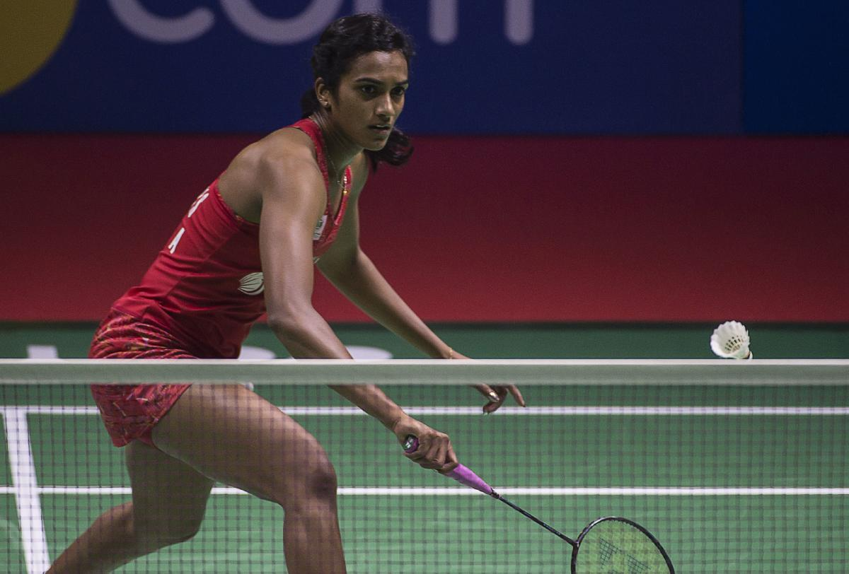 P V Sindhu brushed aside Korea's Sung Ji Hyun to enter the quarterfinals of the World Badminton Championships on Thursday. FILE photo