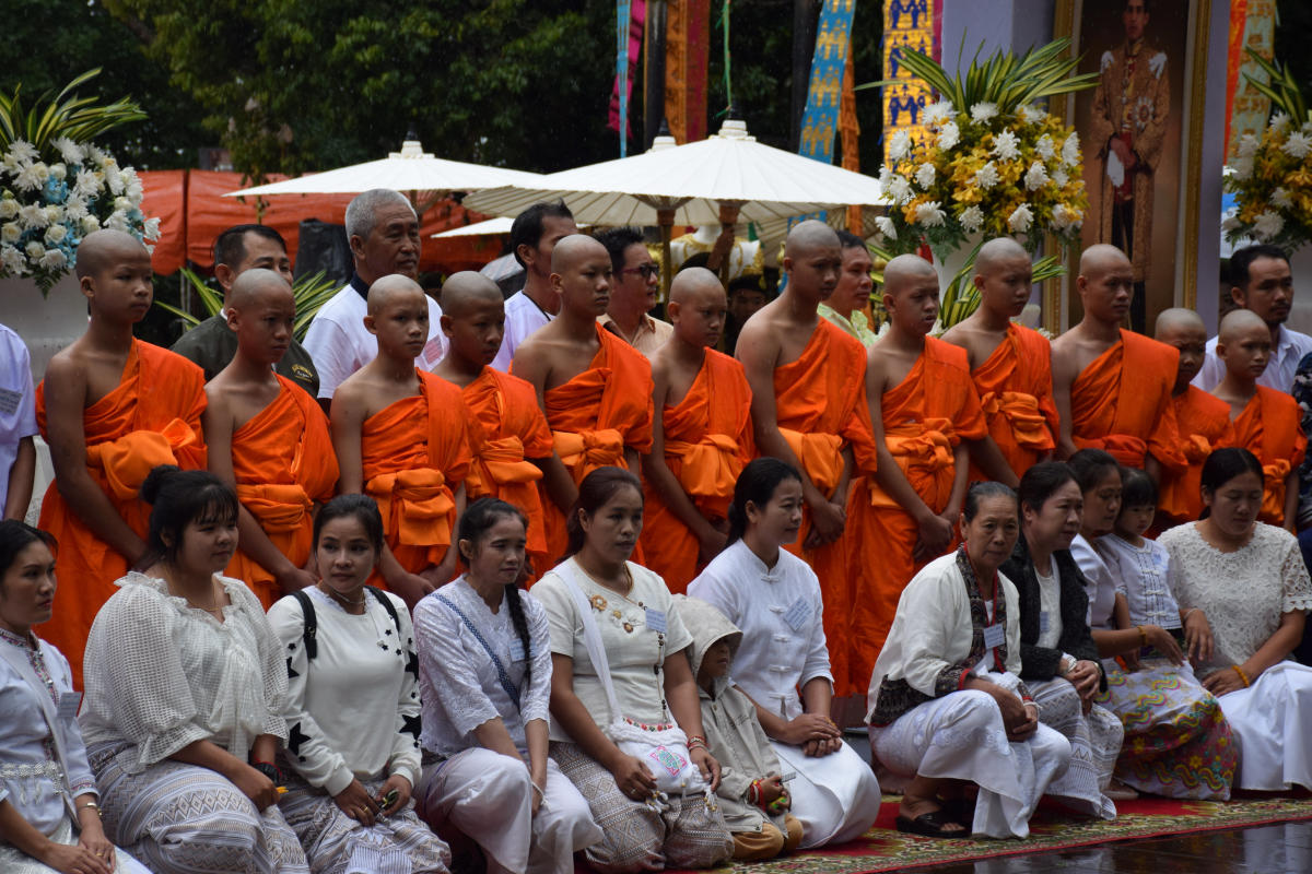 Members of the soccer team rescued from a cave attend a Buddhist ordination ceremony at a temple at Mae Sai, in the northern province of Chiang Rai, Thailand. (Reuters File Photo)