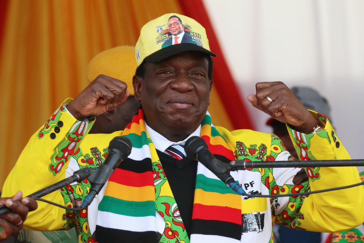 Emmerson Mnangagwa. Reuters photo.
