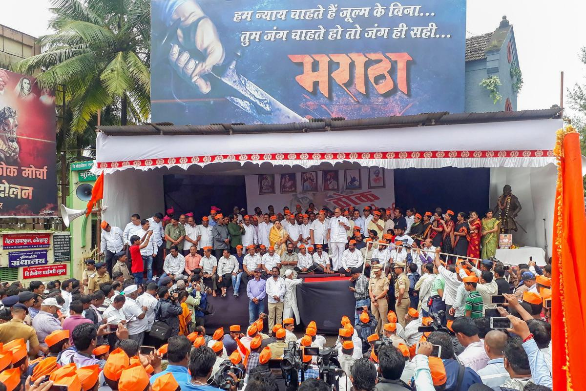 Nationalist Congress Party (NCP) President Sharad Pawar addresses in support of Maratha Kranti Morcha's agitation, in Kolhapur on Saturday, July 28, 2018. (PTI FIle Photo)