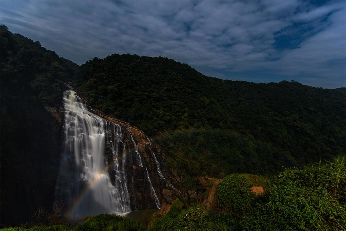 A sight to behold Moonbow at Unchalli Falls. Sriharsha Ganjam