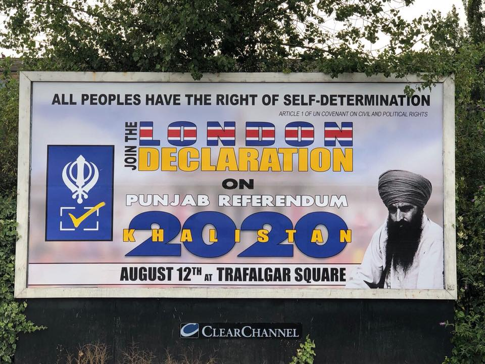 India has already asked the UK Government to deny the SFJ permission to hold the event. (Image source: Facebook/Sikhs for Justice)