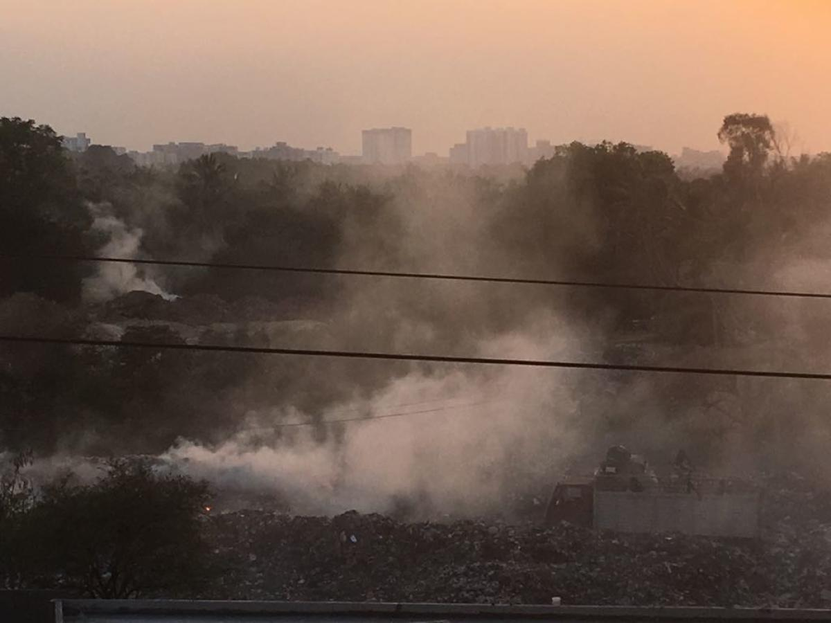 As if the denial of basic infrastructure like roads is not enough, residents of Panathur-Belagere also face the related issue of garbage dumping and burning.