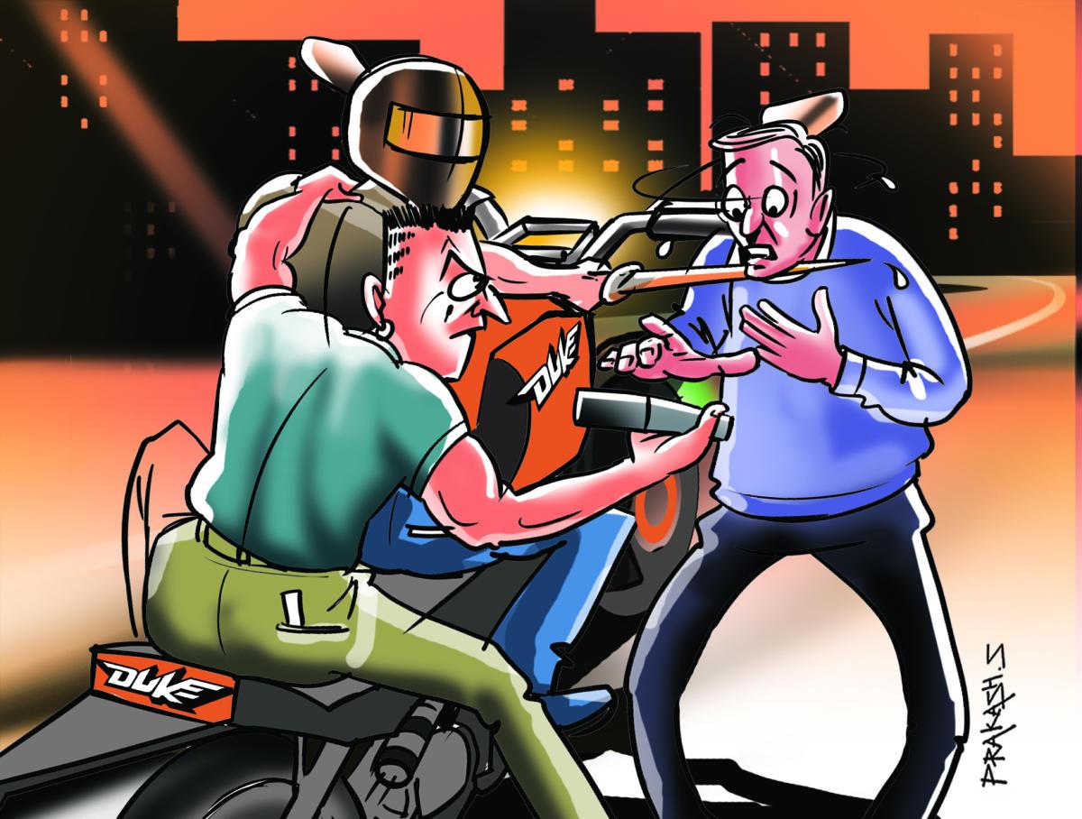 Bike-borne robbers