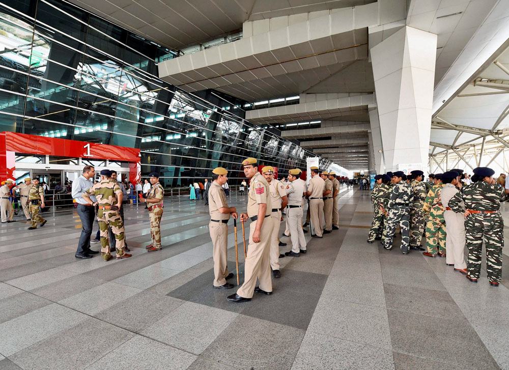 Security measures at the Delhi Metro and the IGI airport have been stepped up with the induction of over 600 fresh CISF personnel and commuters are being thoroughly frisked in view of the heightened vigil in the run up to the Independence Day on August 15, official sources said. PTI file photo