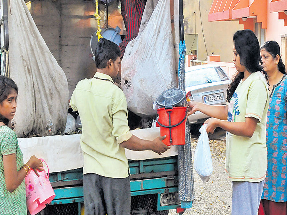 A minimum of one dry waste collection centre for each town panchayat, two for each town municipal council, three each for city municipal council and five each for city corporation would be set up.