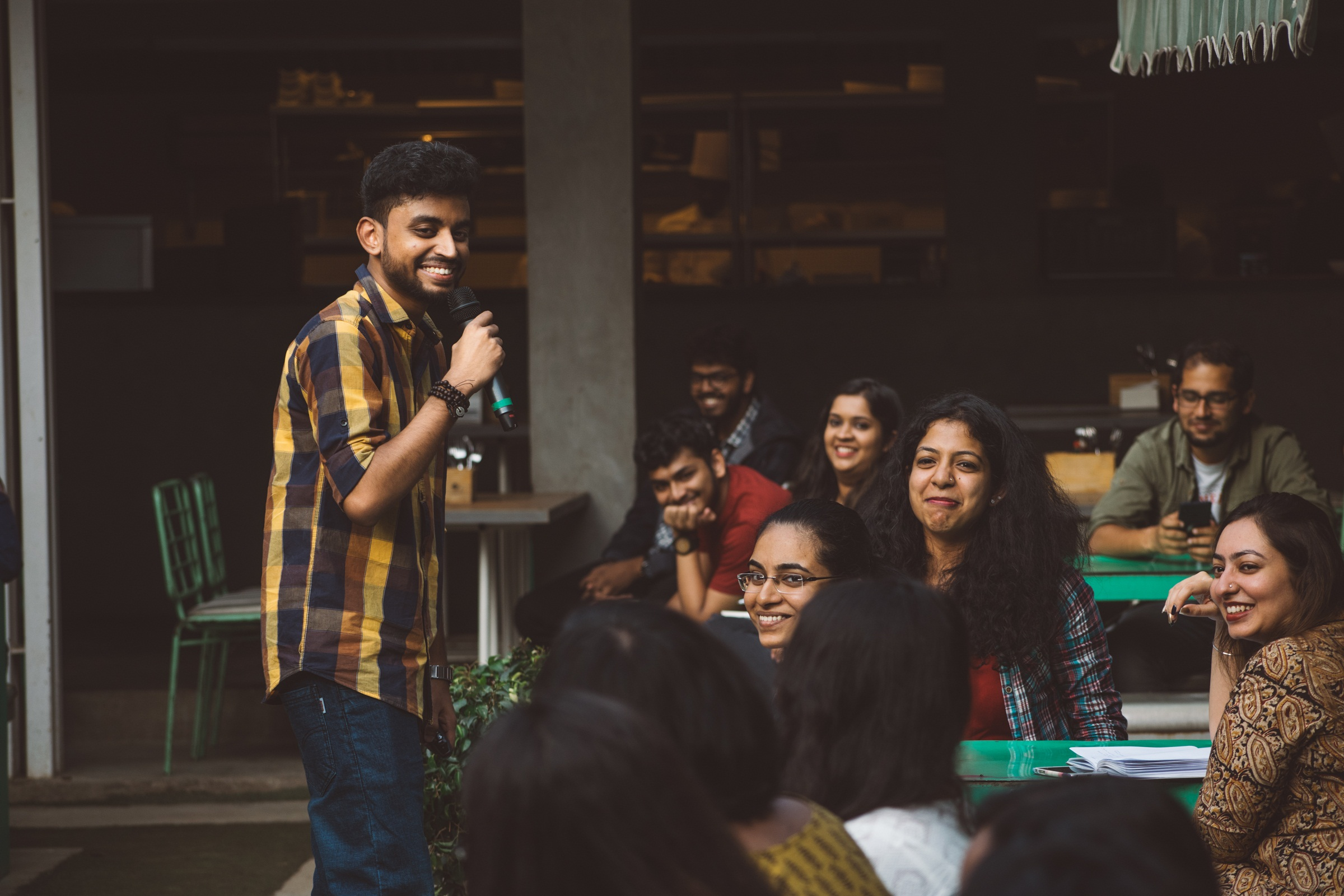 Joel Thottan, chief curator-app content TTT, at a workshop at Biergarten Brewery and Kitchen in Bengaluru.