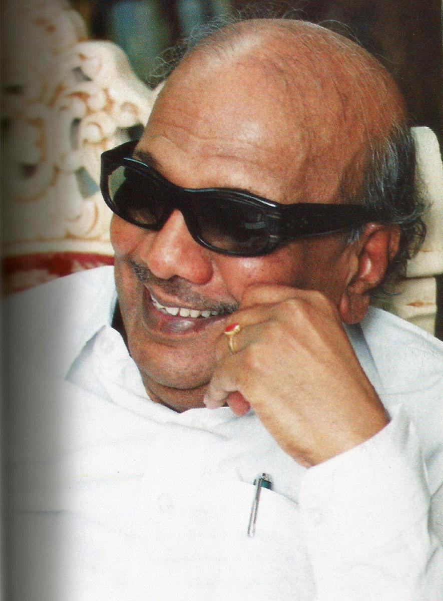 **FILE** New Delhi: A file picture of DMK chief M Karunanidhi who passed away on Tuesday, Aug 7, 2018, after a prolonged illness, at a Chennai hospital where he was admitted for some days. He was 94. (PTI Photo) (STORY TAR34, TAR35, LND35, KYD35) (PTI8_7_