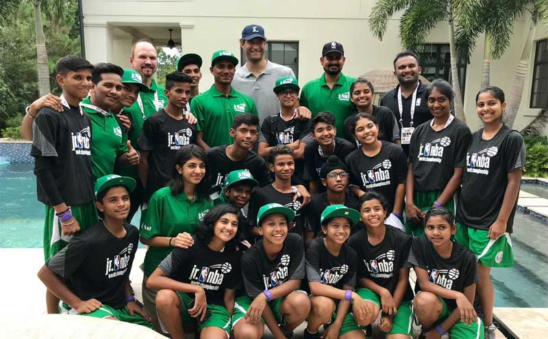 Team India hosted by Brook Lopez at his home in the US. (Credit: @scottwflemming/Twitter)