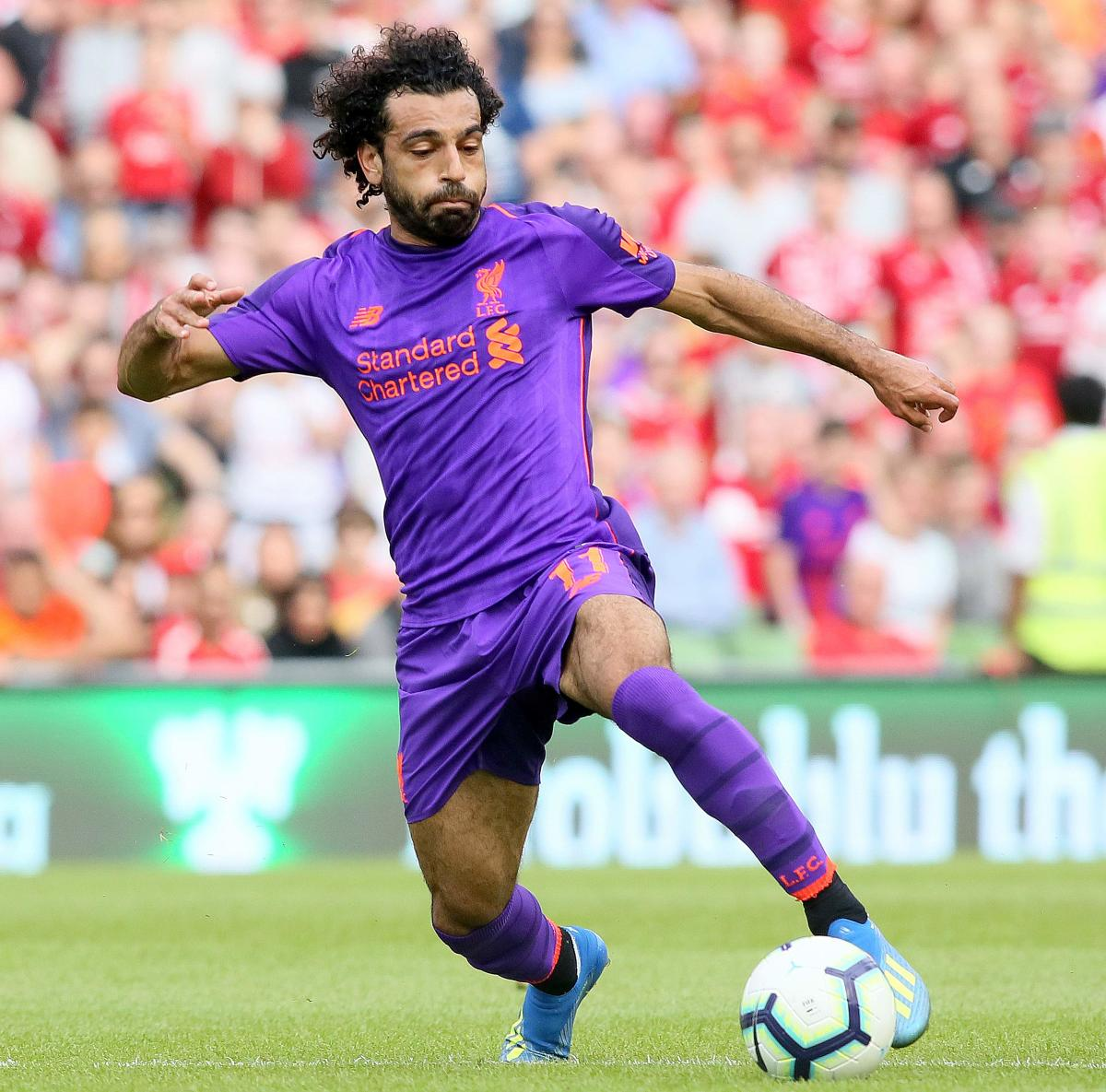 Liverpool's Mohamed Salah is on UEFA's shortlist for the best forwards who played in Champions League last season. AFP