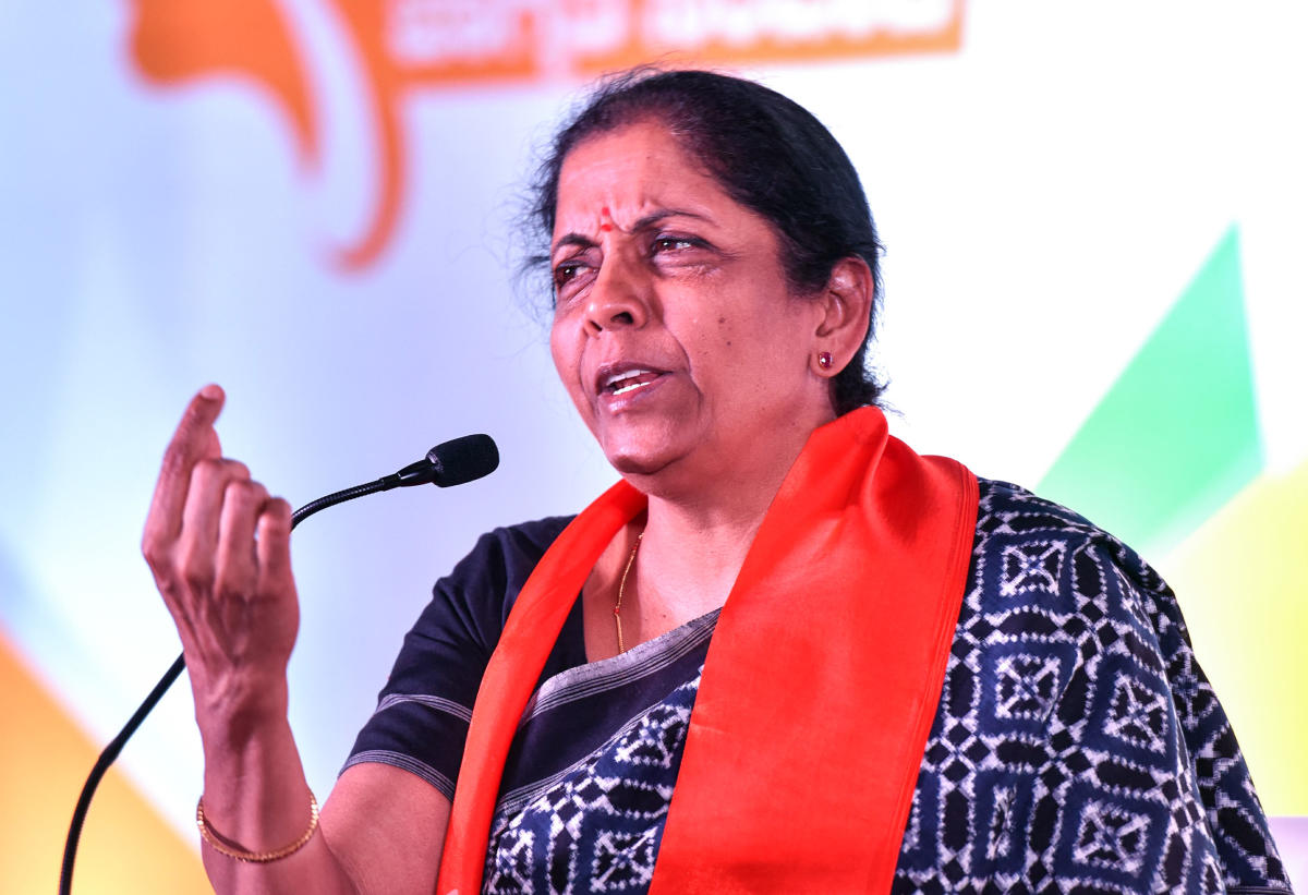 Defence Minister Nirmala Sitharaman. (DH File Photo)