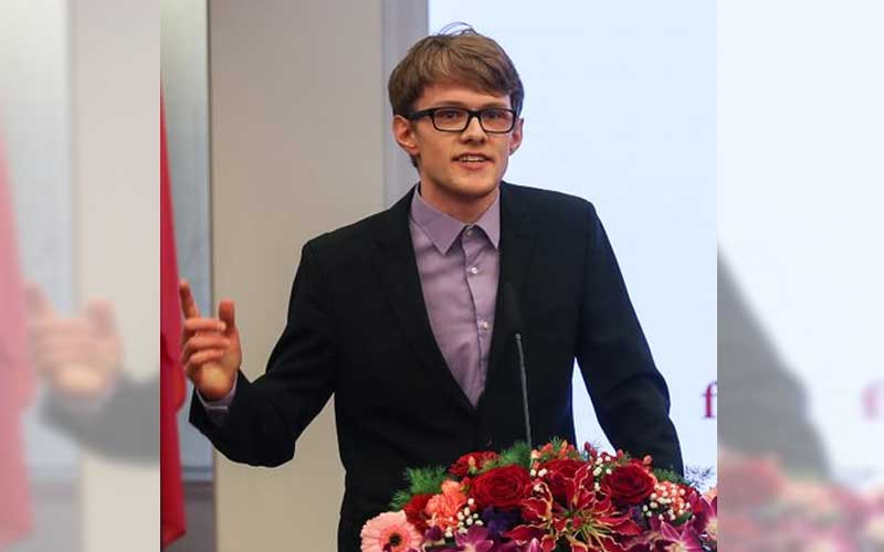 David Missal, 24, was pursuing a master's degree in journalism and communication at prestigious Tsinghua University in Beijing. (Photo credit: Twitter/@DavidJRMissal)