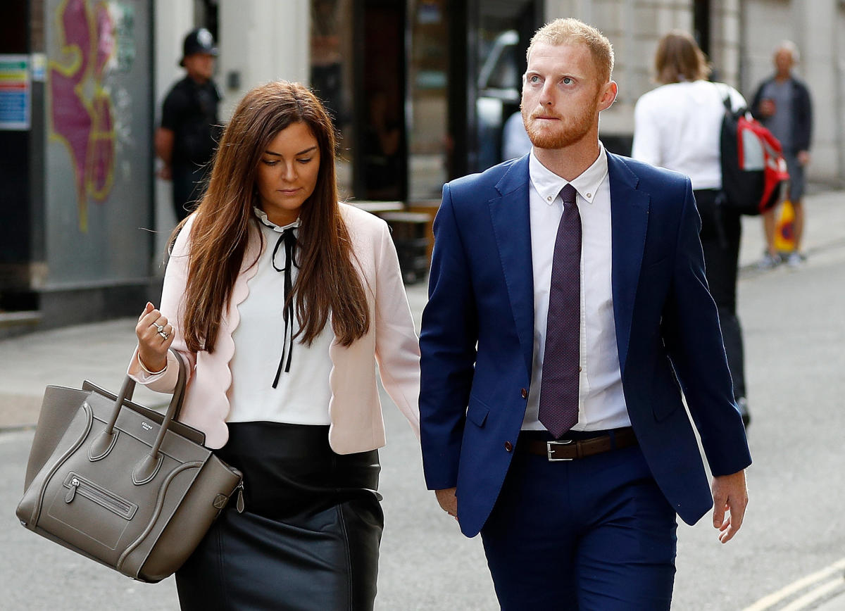 England cricket player Ben Stokes and his wife Clare Ratcliffe arrive at Bristol Crown Court in Bristol, Britain. REUTERS Photo