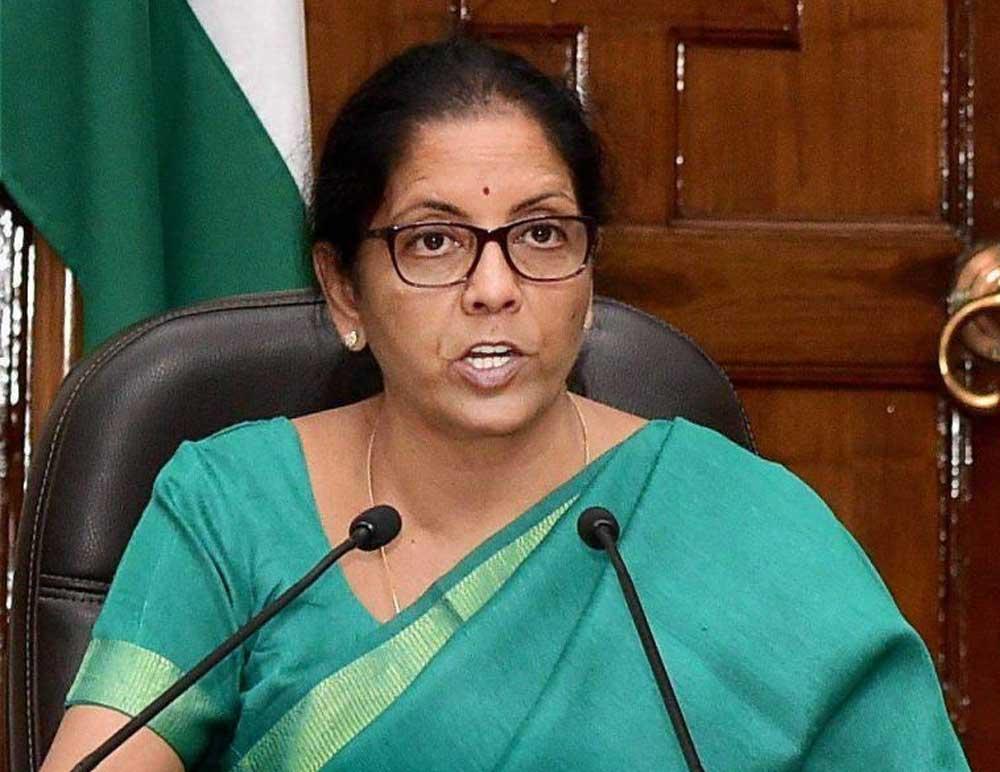 Defence Minister Nirmala Seetharaman. PTI file photo