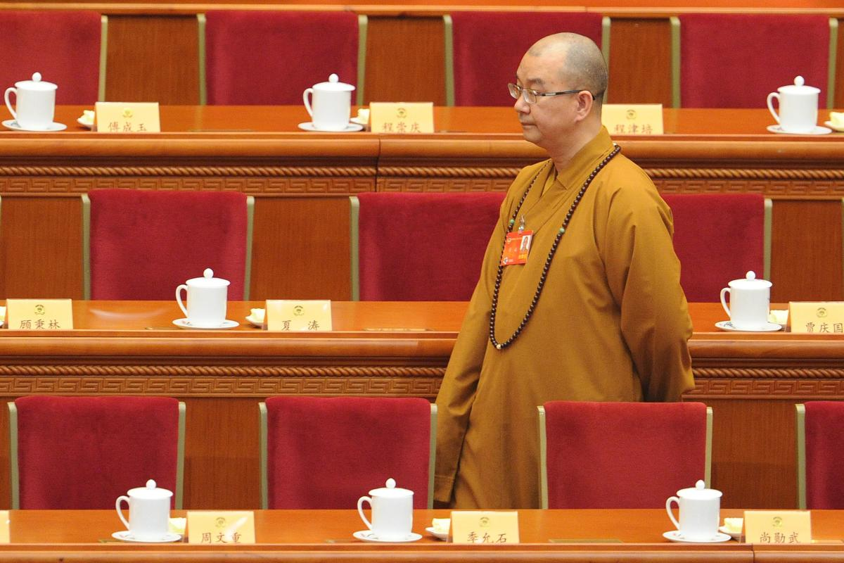 Xuecheng, a Communist Party member and abbot of the Beijing Longquan Monastery, is one of the most prominent figures to face accusations in China's growing #MeToo movement. AFP File Photo