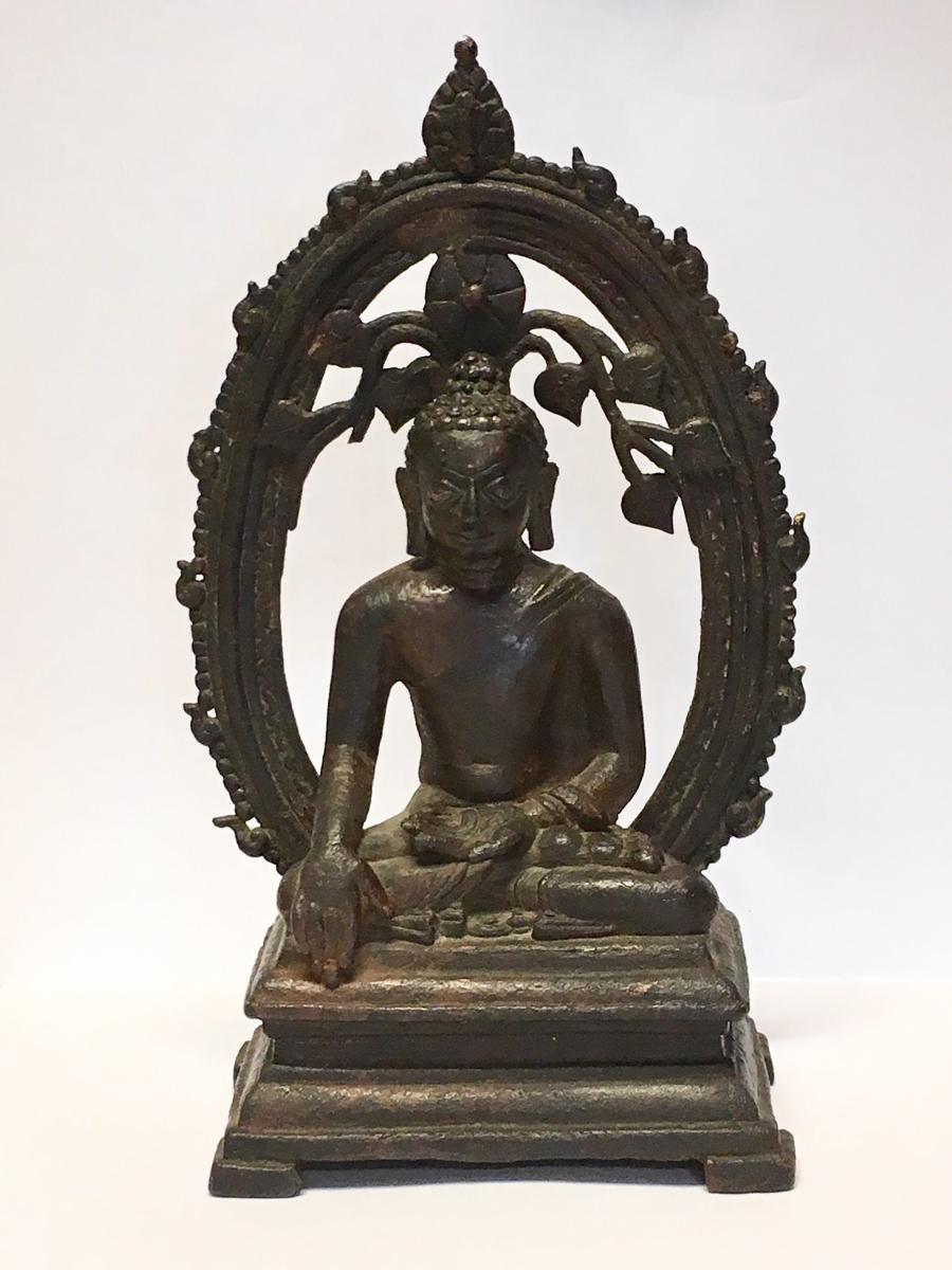 The bronze statue with silver inlay is one of the 14 statues stolen in 1961 from the Archaeological Survey of India (ASI) site museum in Nalanda and changed several hands over the years before surfacing at a London auction. AFP Photo