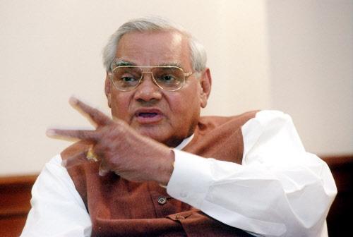 Atal Bihari Vajpayee, the ex-Prime Minister of India. DH file photo