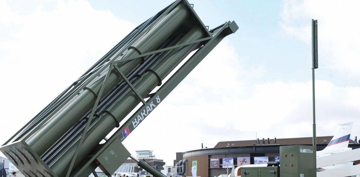 Barak-8 missile defence system (Twitter/@MissileDefAdv)