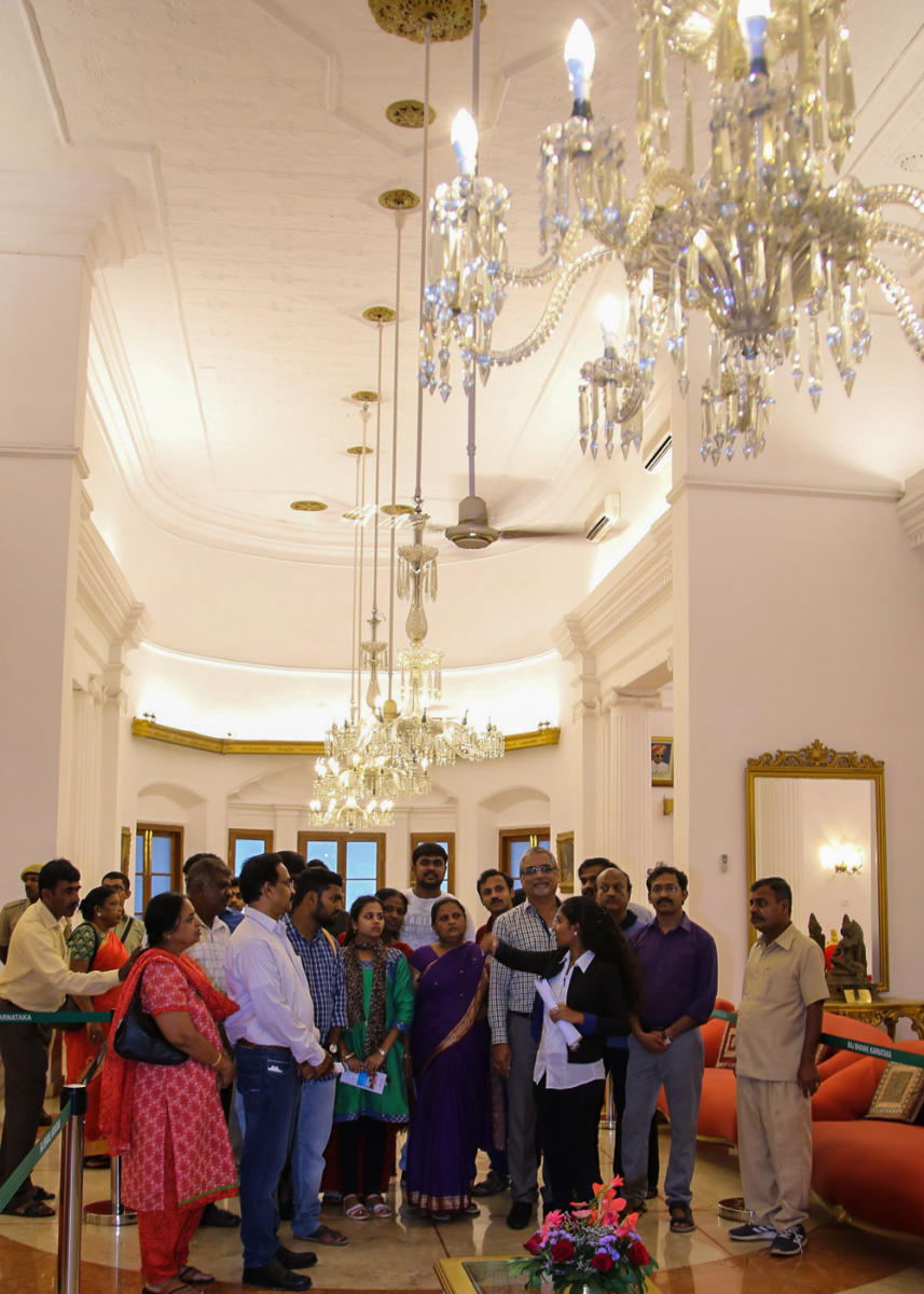 Visitors at Raj Bhavan